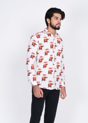 Nahar Magra Cotton Handblock Elephant Print Mens Full Sleeves Shirt