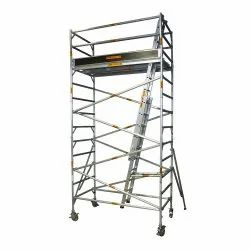 Aluminium Double Width Mobile Tower Scaffold
