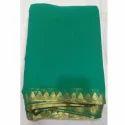 Ladies Green Plain Silk