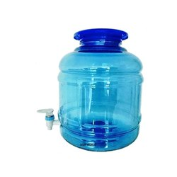 Blue Round PET Water Jar, Capacity: 10 L