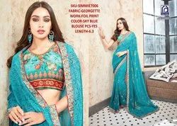 Rachna Georgette Simmie Catalog Saree Set For Woman 6
