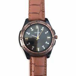 Designer Brown Strap Wrist Watch