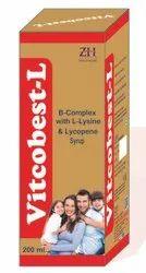 Liquid B-Complex With L-Lysine & Lycopene Syrup, Grade Standard: Medicine Grade