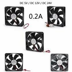 5V DC Cooling Fan 12V, Size: Medium