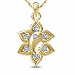 Ganpati Bappa  Gold Diamond Pendant