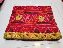 Red Hand Embroidered Ladies Chunri