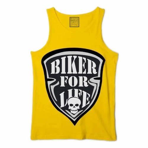 1f171958 Men's Cotton Round Neck Printed Sleeveless T Shirt, Size: S-XXL, Rs ...