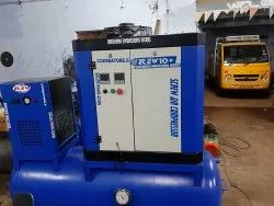15 Hp Rotary Screw Air Compressor With 500l Tank 60cfm Dryer Compact Model