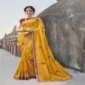 Thread & Jari Embroidery With Sequence Work Saree