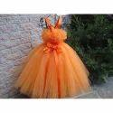 Kids Orange Tutu Dress