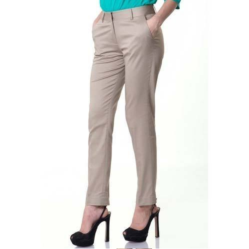Cotton Plain Ladies Pant