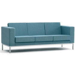One Seater Office Reception Steel Sofa