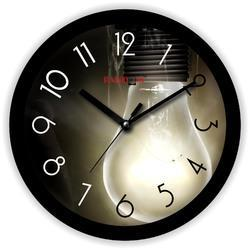 Light Black Wooden Wall Clock