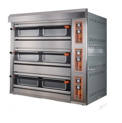 three deck oven 3 Deck Pizza Oven, 2.5, Capacity: 10.0