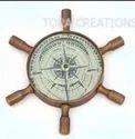 TORATora Brown Brass Compass