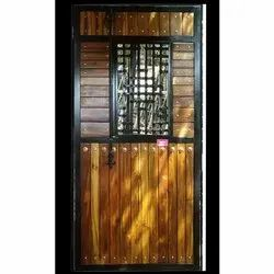 Designer Iron Single Door, For Home, Thickness: Up To 10 Mm