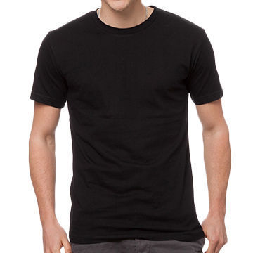 d1e976258ff Mens Cotton Black T-Shirt