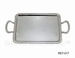 Pure Silver Handmade Serving Tray