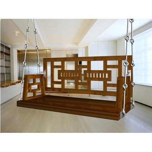 Brown Modern Indoor Wooden Swing Rs