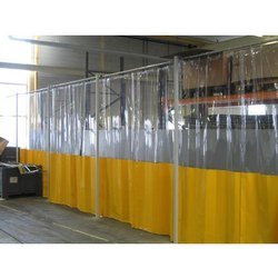 Plain And Ribbed PVC Curtain for Industrial