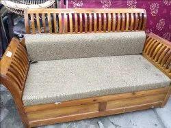 Wooden(Frame) Modern 3 Seater Wooden Sofa