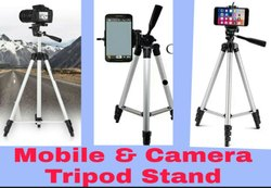 Silver Aluminium Tripod For Mobile Phones And Camera, For Photography, Size: 5feet