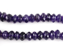 Amethyst Faceted Roundel Shape Beads