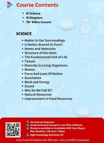 CBSE Class 9 Science Video Course DVD