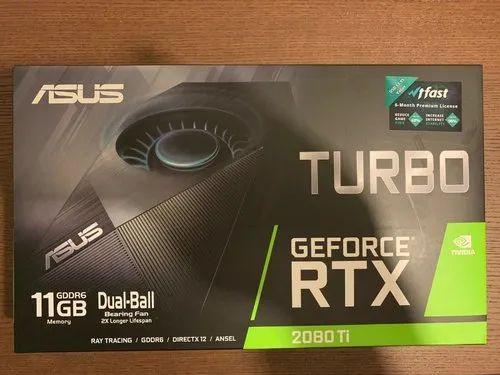 New Asus Nvidia Geforce Rtx 2080 Ti 11gb Turbo Graphics Card