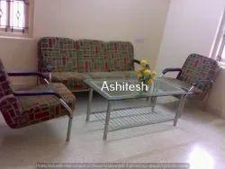 Mild Steel Ashitesh Sofa for Living Room