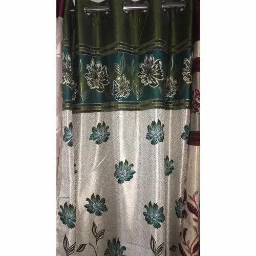 Floral Satin Decorative Door Curtain