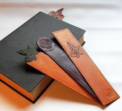 Embossed Leather Bookmark