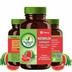 Watermelon Capsules Citrullus Lanatus Extract Nutraceuticals Capsule, Packaging Type: Bottle, Grade Standard: Medicine Grade