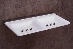 Acrylic Soap Dish, Shape: Square