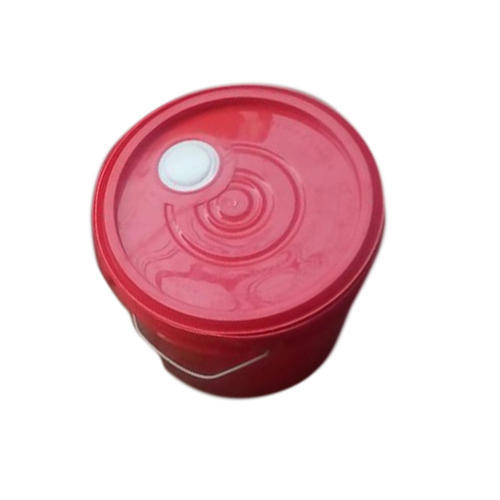 Red 5 Liter Oil Plastic Bucket