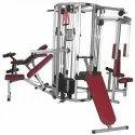 Mild Steel 6 Station Multi Gym, Weight: 279 Kg