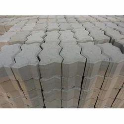 Zigzag Cement Paver Blocks, For Pavement