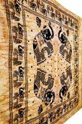 Elephant Mandala Printed Indian Tapestry