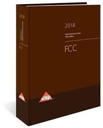 Food Chemicals Codex (FCC) - 11th Ed. 2018-2019