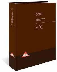Food Chemicals Codex (FCC) - 11th Ed. 2018-2019