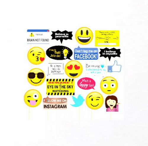 Social Media Theme Photo Booth Party Props At Rs 199 Piece