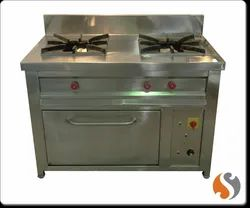 AIRCON LPG Two Burner Chinese Gas Range For Hotel, Packaging Type: Wooden Packing