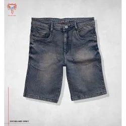 United 18 Thigh Length Men Denim Capri, 4