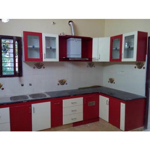 Designer Modular Kitchen At Rs 360 Square Feet: Full Height Modular Kitchen High Gloss Shutter, Rs 360