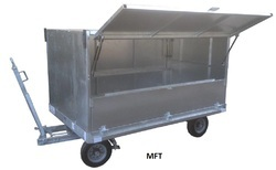 Mild Steel Baggage Trailers, Capacity: 3 ton