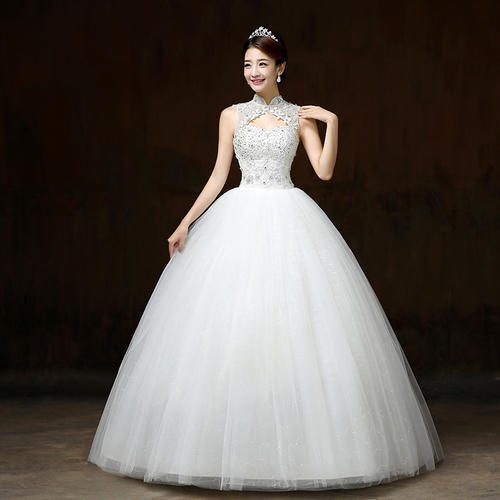 White Wedding Dress Under 500: White Halter Neck Christian Wedding Dress At Rs 5550