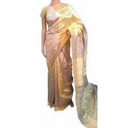 Ladies Gold Silk Saree