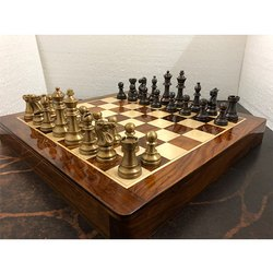 16 Brass Cub Staunton Chess Set