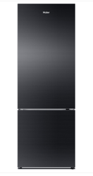 Black Haier Refrigerator, Double Door, 278 Ltr