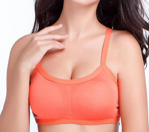 Women pearlfly Cotton Padded Bra with 3 band vest with removable pads